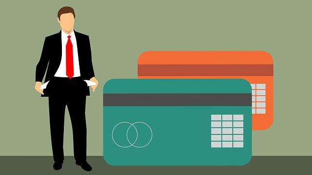 muž a kreditky