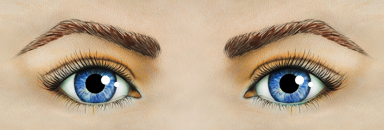 oči a obočí